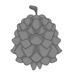 Pine cone icon monochrome vector