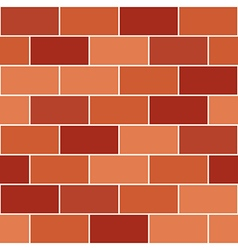 Red Orange Brick Wall vector image