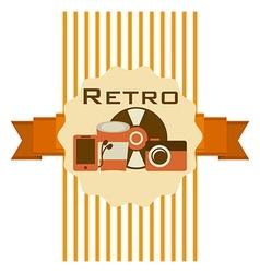 Retro style vector