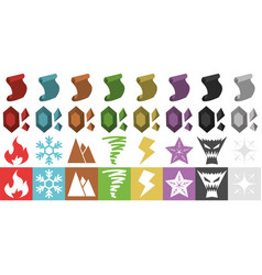 Rpg elements icons vector