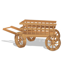 Rustic cart on white vector