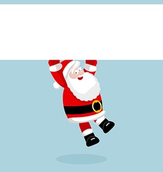 Santa Claus hanging on the empty blank vector image vector image