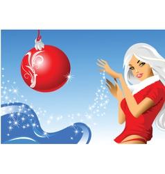 Santa girl vector