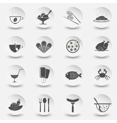 set icons for theme eating vector image