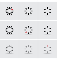 set of progress indicators vector image