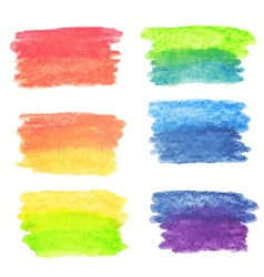 set of rainbow watercolor banners vector image