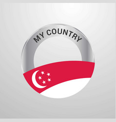 singapore my country flag badge vector image