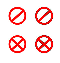 stop sign symbol set warning vector image