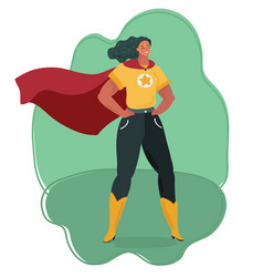 super heroine watching over city vector image