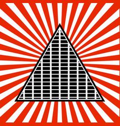 Symbolic pyramid graphics vector