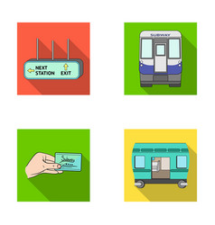 transport public train and other web icon in vector image