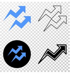 trend arrows eps icon with contour version vector image