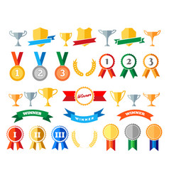 Trophy and awards isolated on white vector