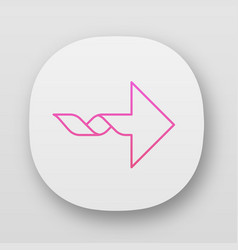 twisted arrow app icon navigation pointer sign vector image