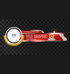 Video headline title or lower third template vector