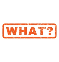 What Question Rubber Stamp vector image