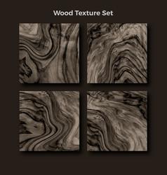 wood texture set background vector image