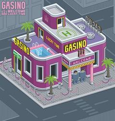 Casino building vector image vector image