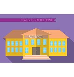Flat design modern of school building icon set vector image vector image