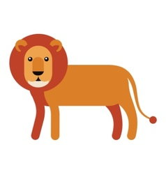 lion flat icon vector image vector image