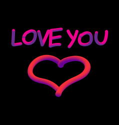 love neon vector image