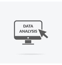 Marketing Data Analytics Analyzing Statistics vector image