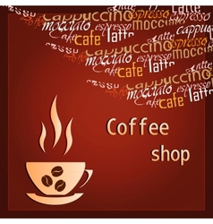 Template of a coffee shop vector image
