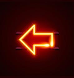 heon sign arrow left signboard vector image vector image