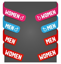 left and right side signs - men women vector image vector image