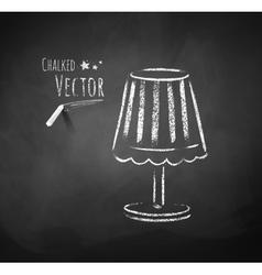 Night lamp vector image