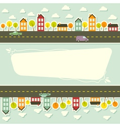 Paper urban landscape vector image vector image