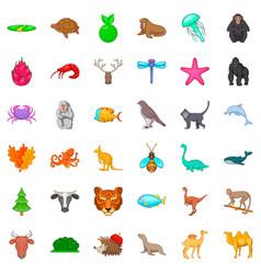 snail icons set cartoon style vector image
