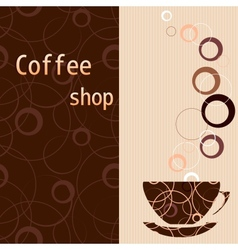 Template for a tea coffee chocolate menu vector image vector image