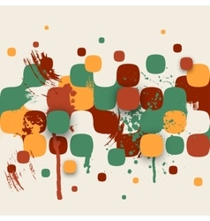 Abstract Texture with Squares and Paint Splashes vector image
