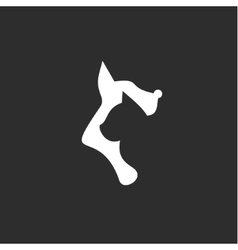 Cat and dog with a negative effect on the dark vector image