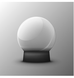 glass transparent ball on a clean vector image vector image
