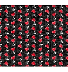 Holiday Hearts Seamless Pattern vector image vector image