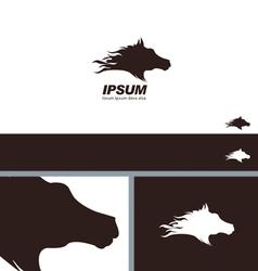 Horse Head Silhouette Symbol Branding Template vector image vector image