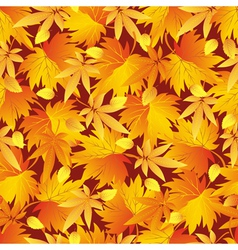 Seamless pattern texture with autumn leaf vector image vector image