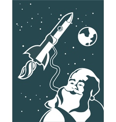 space santa vector image vector image