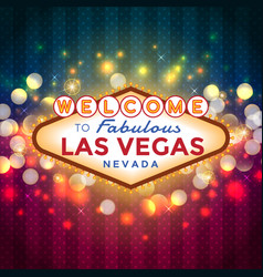 welcome to las vegas sign vector image