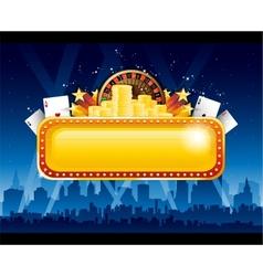 Casino background city vector image