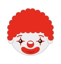clown head isolated icon design vector image