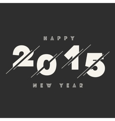 Happy New Year 2015 Abstract Card Text Design vector image vector image