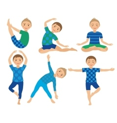 Kids Yoga Poses Child doing vector image