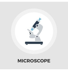 Microscope icon flat vector image vector image