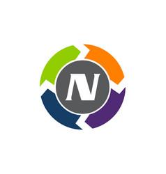 Process planner center letter n vector
