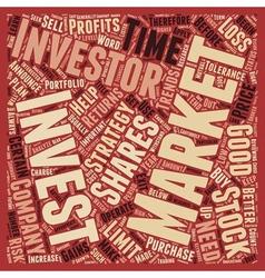 Stock Market Strategies For Investors text vector image