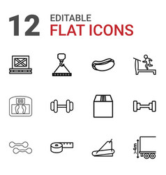 12 weight icons vector