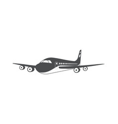 airplane air transport aerial vehicle symbol vector image